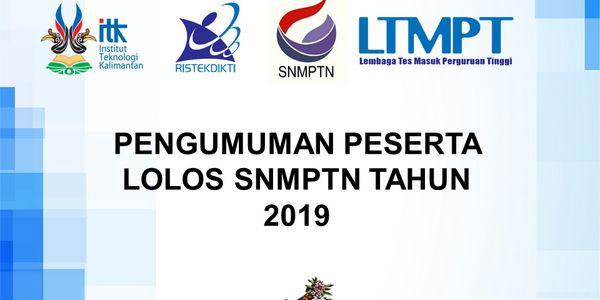 Daftar Siswa SMAN 1 Mojosari Yang Diterima Seleksi SNMPTN 2019