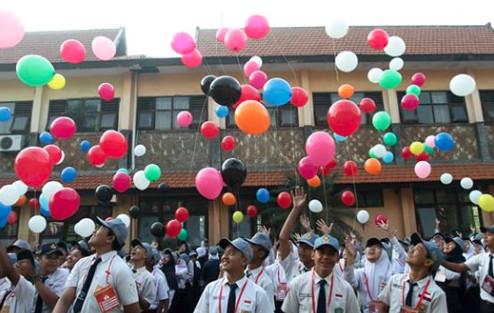 Liputan Hari Pertama Sekolah SMAN 1 Mojosari di TV Nasional
